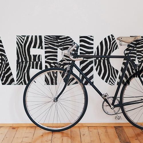Stickers autocollant Muraux Africa derrière un vélo