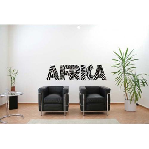 Stickers autocollant Muraux Africa au-dessus de fauteuils noirs