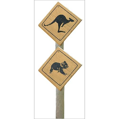 Sticker autocollant Signalisation Kangourous