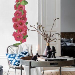 Autocollants Rose Trémière fleurs géant