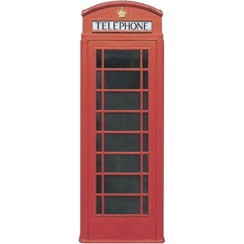 Adhésif de décoration géant - Cabine rouge téléphone anglais