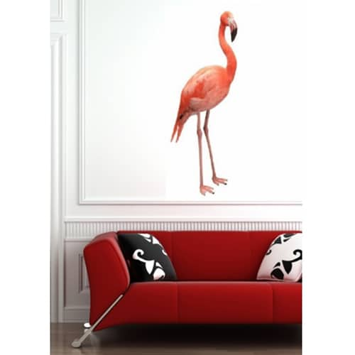 Sticker autocollant mural Flamant Rose