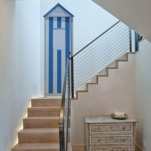 Sticker Cabine de Plage pour décoration d'escalier
