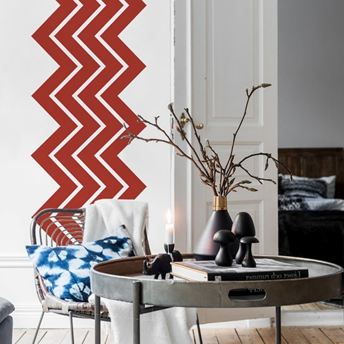 stickers autocollants Chevrons Rouges dans un salon design