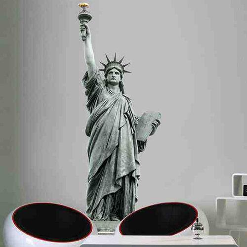sticker Statue de la Liberté trompe l'oeil