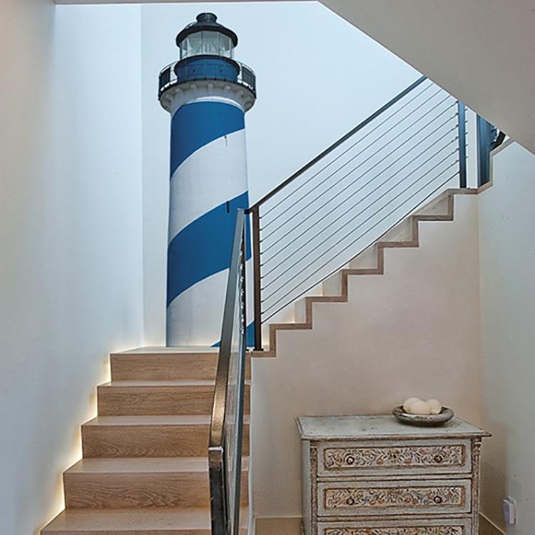 Sticker Cap COD Bleu pour déco escalier