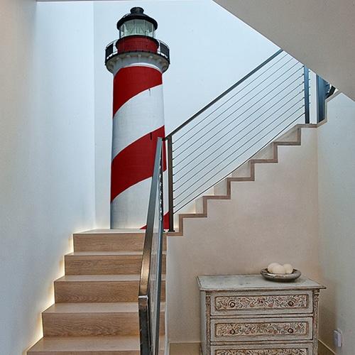 Sticker Cap COD Rouge pour décoration escalier