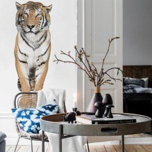 Sticker autocollant Mural Tigre dans un salon