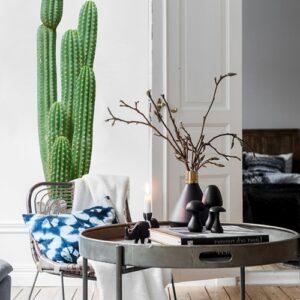 Sticker adhésif Géant Cactus dans un salon design