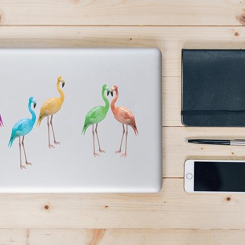 Stickers muraux Flamingo pour déco intérieur