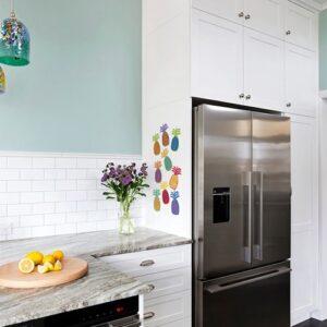 Sticker de dessins d'Ananas de couleurs pour cuisine
