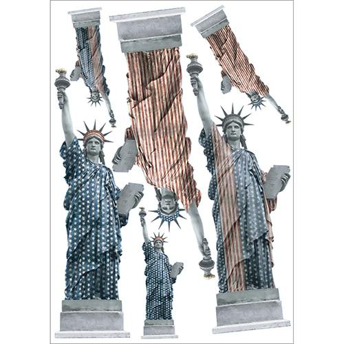 Lot de 6 stickers autocollants de la Statues de la Liberté