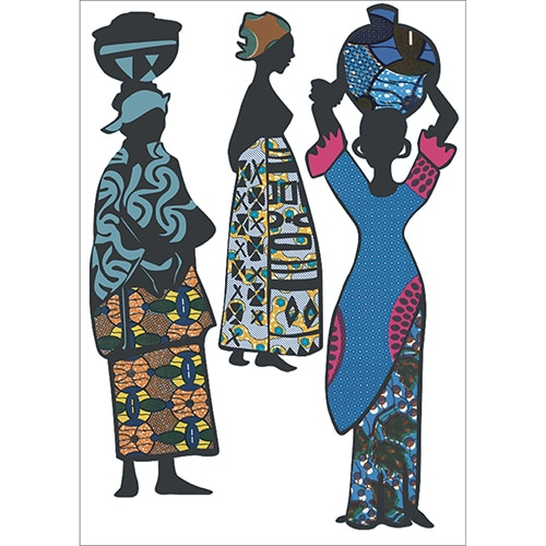 Planche d'adhésifs de maman africaine à coller