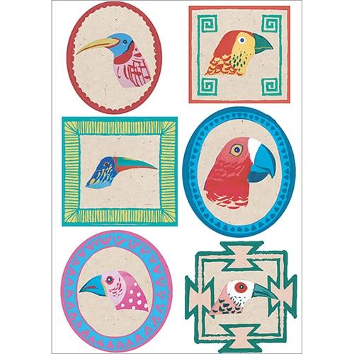 Adhésifs muraux Oiseaux Exotiques prêt à coller