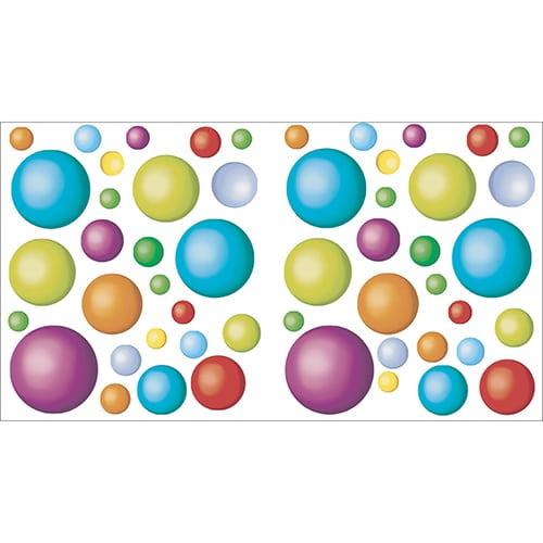 Stickers muraux balles colorées