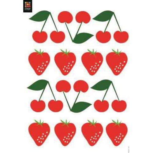 Stickers muraux fraises et cerises