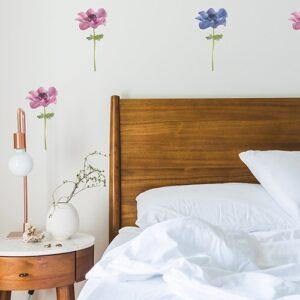 Sticker autocollant de Petites Anémones dans une chambre à couché