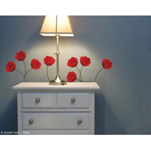 Stickers Tulipes Rouges Pour déco chambre