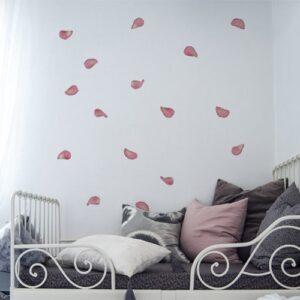 Stickers pétales de roses pour la chambre décoration murale