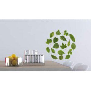 Exemple deco de positionnement de stickers Herbier au-dessus d'une table à manger