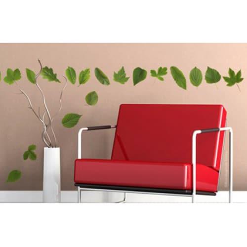 stickers feuille de forêt dans un salon