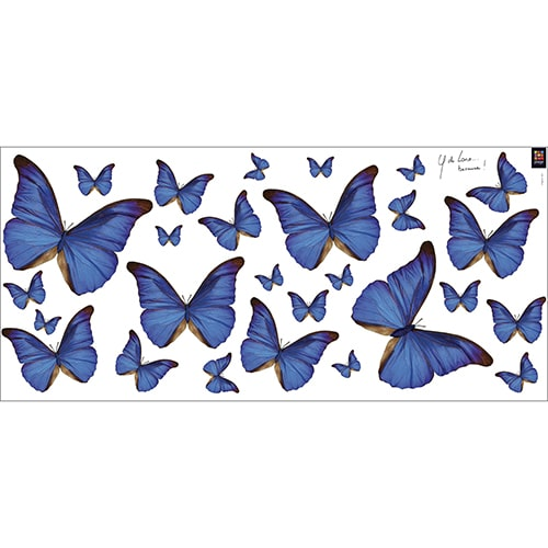 Lot de Stickers Papillons bleus