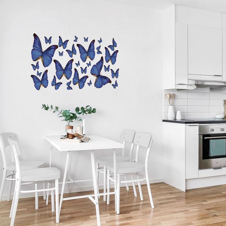 Stickers Papillons bleus dans une cuisine