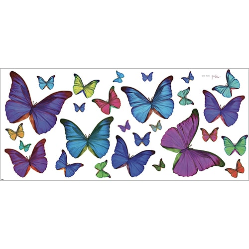 Lot de Stickers Papillons Multicolore