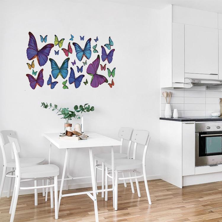 Stickers Papillons Multicolore dans une cuisine