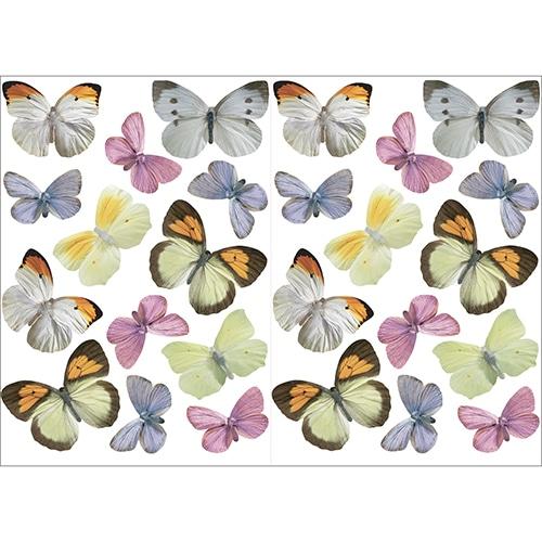 Stickers autocollants Papillons en couleurs déco d'intérieur