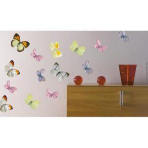 Stickers autocollants Papillons au-dessus d'un meuble