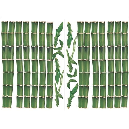 stickers autocollants muraux Bambous vert