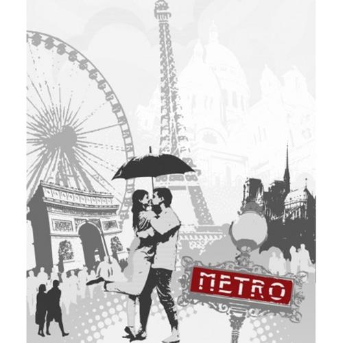 Stickers adhésif Noir et blanc emblème de Paris pour lave-vaisselle