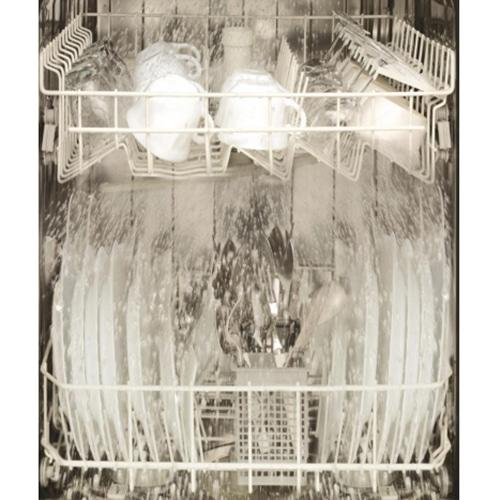 Stickers adhésif intérieur noir et blanc décoration pour lave-vaisselle