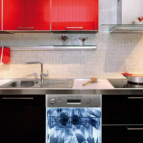 Stickers rayon x pour lave-vaisselle adhésif