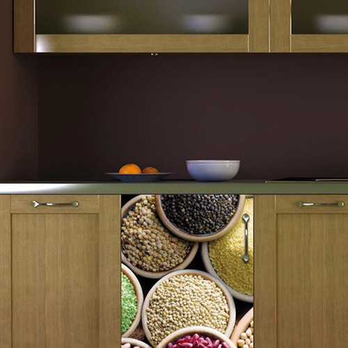 Stickers légumes secs décoration pour petit frigo