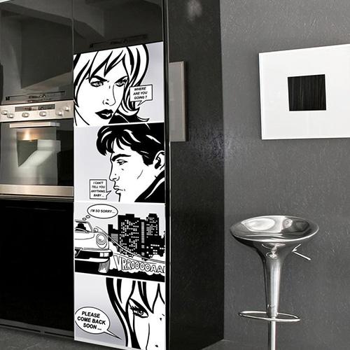 Stickers adhésifs pour frigo BD