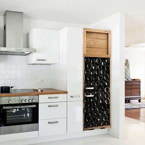 Nos stickers autocollants pour frigo Bouteilles de vin
