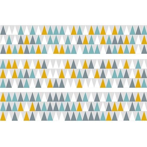 Sticker Scandinave Lichen pour contremarches d'escalier en bois gris