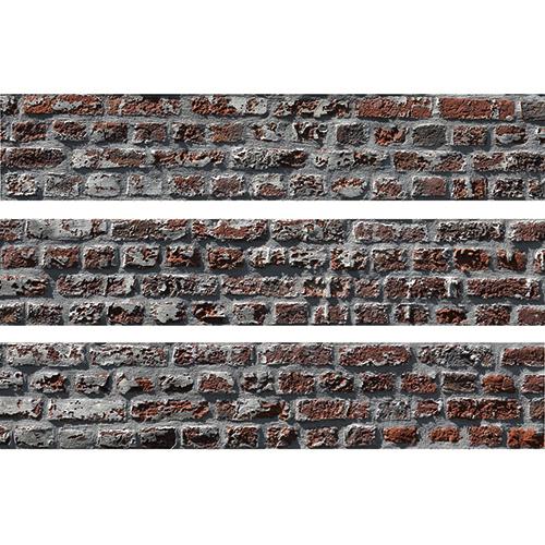 Sticker Briques pour contremarches d'escalier en bois gris