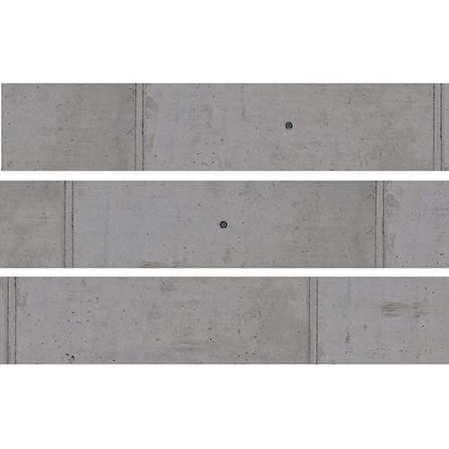 Sticker Béton gris pour contremarches d'escalier en bois gris