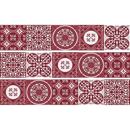 Sticker Ciment Rouge Sticker Ciment Rouge et blanc pour contremarches d'escalier en bois gris