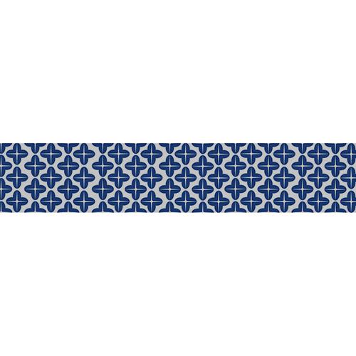 Sticker adhésif bleu tendance pour contremarches d'escalier en bois