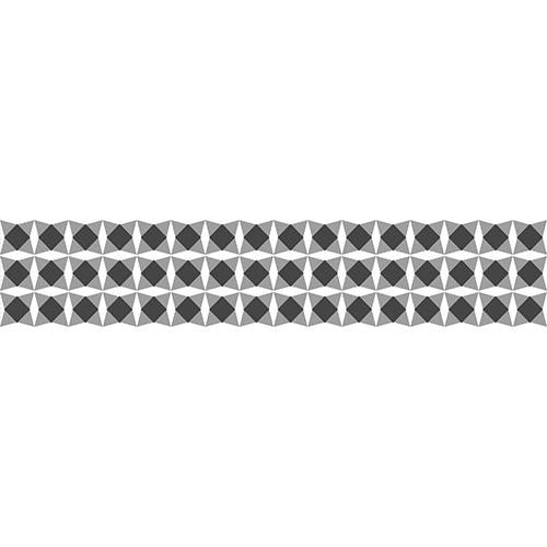Sticker tendance style mosaïque noir et blanc pour contremarches d'escalier en bois moderne