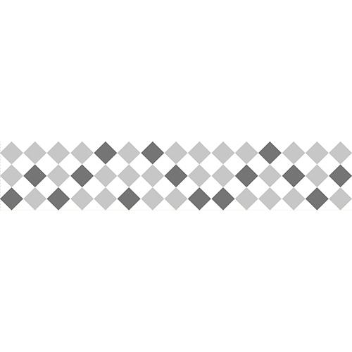 Sticker autocollant style mosaïque ton gris pour contremarches d'escalier moderne