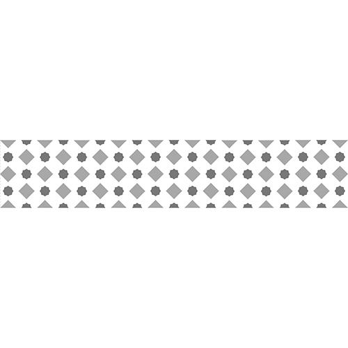 Sticker avec des formes grises pour contremarches d'escalier en bois moderne