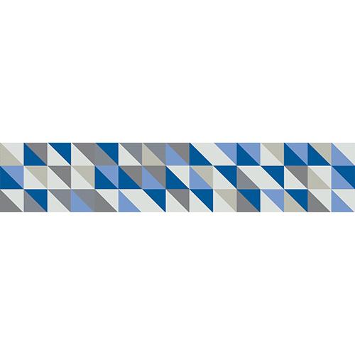 Sticker tendance gris et bleu pour contremarches d'escalier moderne