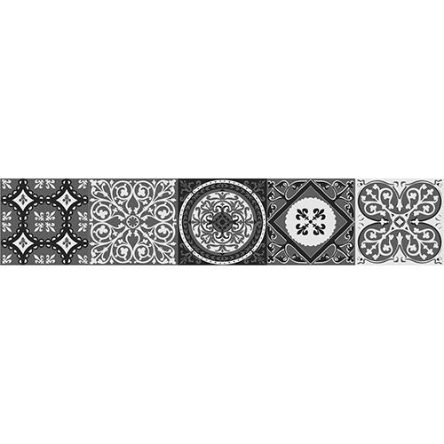 Sticker adhésif style mosaïque gris pour contremarches d'escalier moderne