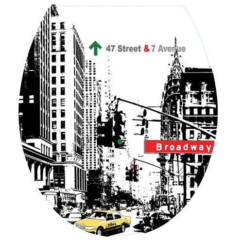 Sticker new york city pour abattant de toilette