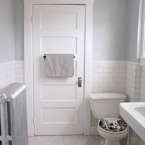 Sticker new york city pour abattant de toilette